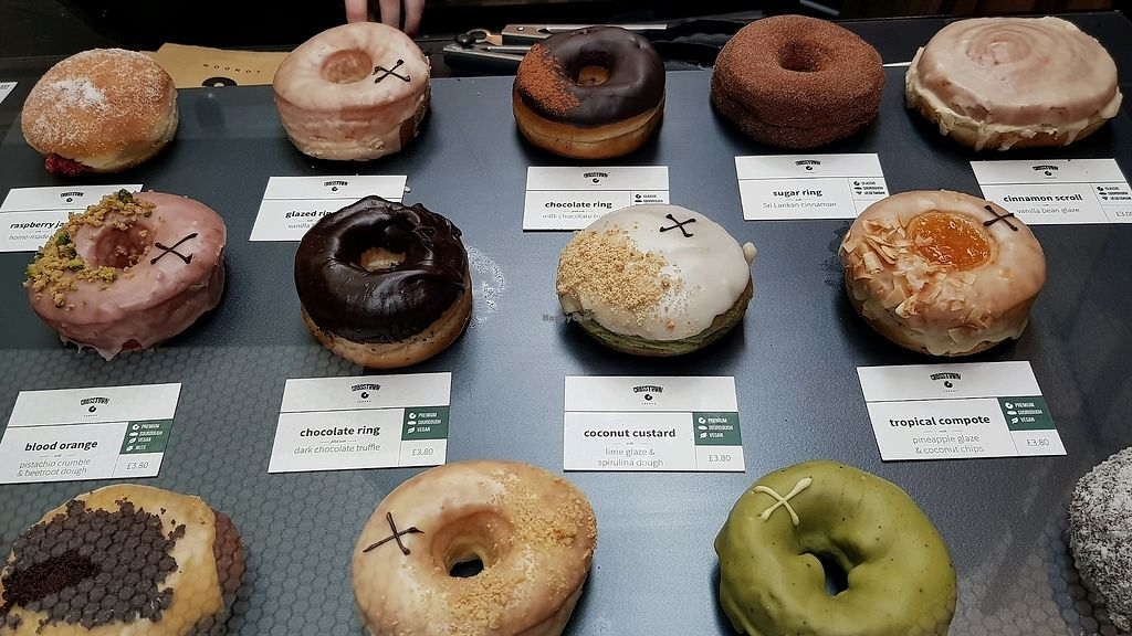 "Photo of Crosstown Doughnuts - Victoria  by <a href=""/members/profile/jollypig"">jollypig</a> <br/>Vegan ringed things <br/> April 13, 2018  - <a href='/contact/abuse/image/107442/385024'>Report</a>"