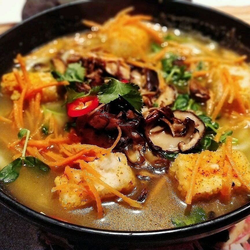 """Photo of Wagamama - St Andrew Square  by <a href=""""/members/profile/soveryblueberry"""">soveryblueberry</a> <br/>vegan ramen <br/> March 12, 2018  - <a href='/contact/abuse/image/107469/369890'>Report</a>"""
