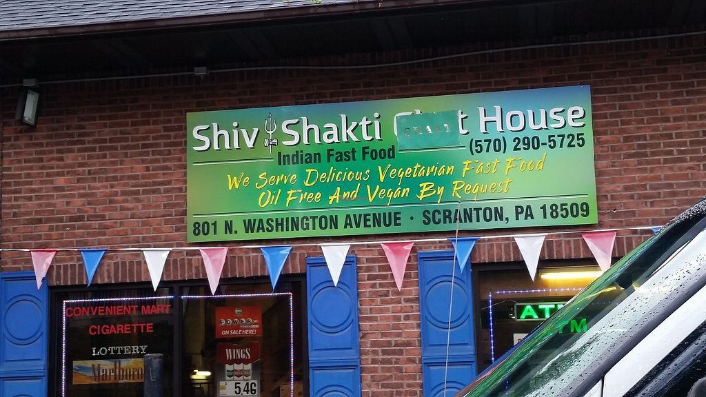 """Photo of Shiv Shakti Chat House  by <a href=""""/members/profile/WhatDoYouEatThen"""">WhatDoYouEatThen</a> <br/>I visited Shiv Shakti Chat House in Scranton, Pennsylvania on Sep 16, 2017 Very friendly people, good parking, and decent selection of both Vegetarian and Vegan options  https://www.facebook.com/pg/shivshaktichathouse/about/?ref=page_internal  It was very good, large portion and I look forward to returning to try more of their menu  Our pictures are here http://whatdoyoueatthen.com/shiv-shakti-chat-house-scranton-pa/  Looks like they have a restaurant (that was not open on a Tuesday Afternoon) and I ordered from the to-go counter <br/> December 17, 2017  - <a href='/contact/abuse/image/107474/336658'>Report</a>"""