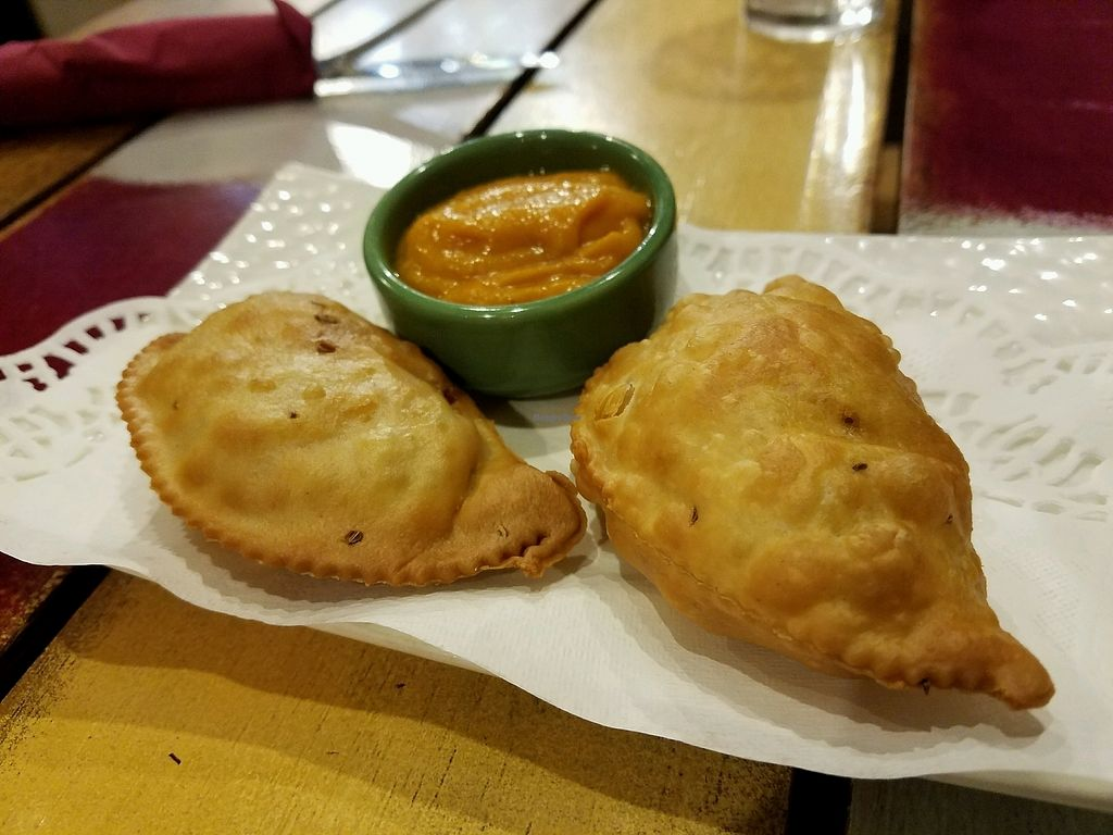 """Photo of Ela Cuisine  by <a href=""""/members/profile/EverydayTastiness"""">EverydayTastiness</a> <br/>samosa <br/> December 19, 2017  - <a href='/contact/abuse/image/107476/337218'>Report</a>"""