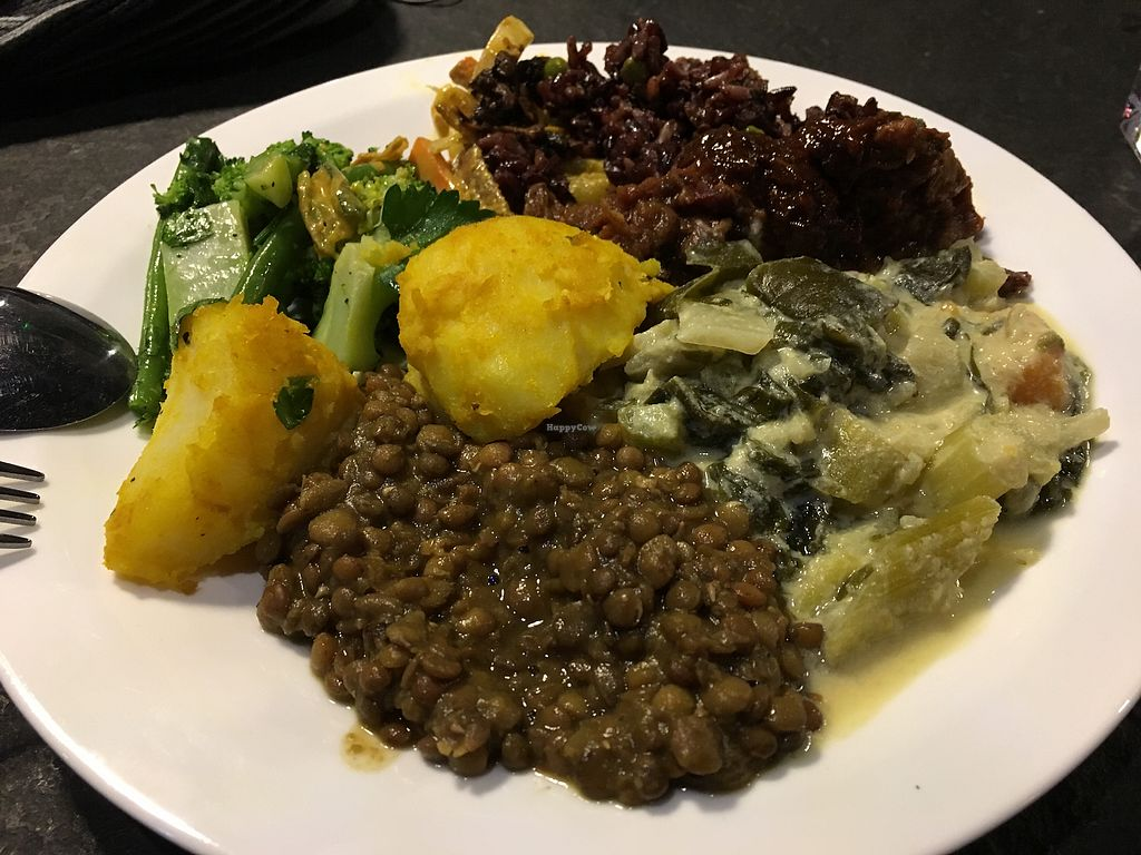 """Photo of Vantra Loungevity   by <a href=""""/members/profile/lysi"""">lysi</a> <br/>Selection of the warm and raw dishes - plate came to £10 <br/> January 5, 2018  - <a href='/contact/abuse/image/107557/343318'>Report</a>"""