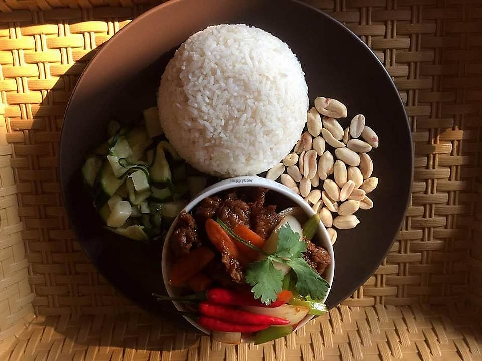 "Photo of Island Cafe & Bistro  by <a href=""/members/profile/islandcafe%26bistro"">islandcafe&bistro</a> <br/>Vegan Spicy Thai Chicken <br/> December 27, 2017  - <a href='/contact/abuse/image/107568/339378'>Report</a>"