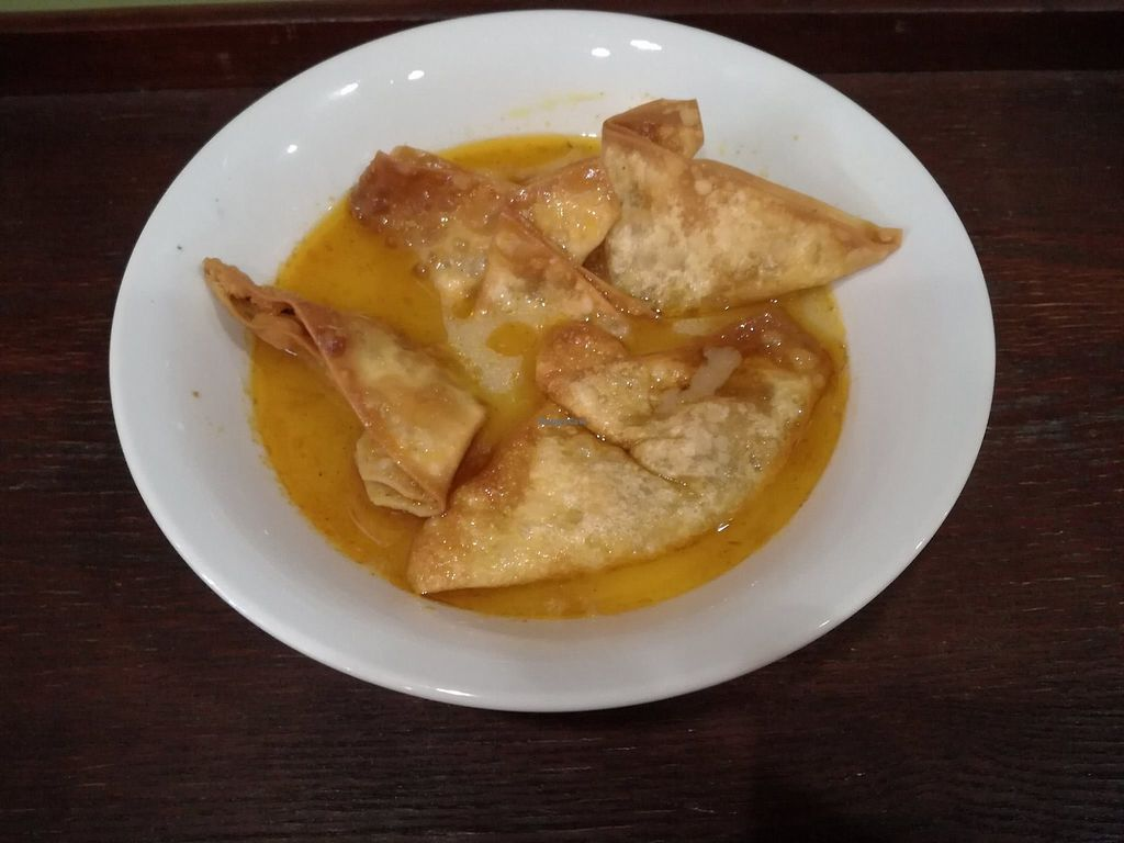 "Photo of Island Cafe & Bistro  by <a href=""/members/profile/islandcafe%26bistro"">islandcafe&bistro</a> <br/>Vegan Spicy Wanton Soup <br/> December 27, 2017  - <a href='/contact/abuse/image/107568/339379'>Report</a>"