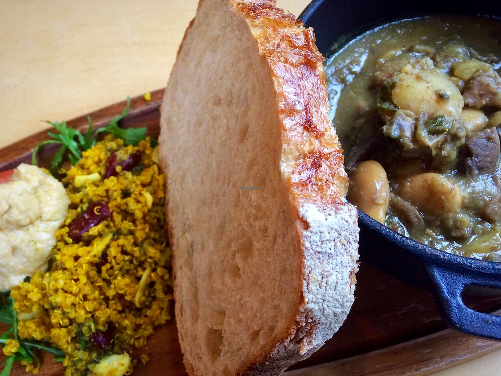 """Photo of The Pantry Cafe and Kitchen   by <a href=""""/members/profile/CiaraSlevin"""">CiaraSlevin</a> <br/>Mushroom, butterbean & Potato Stew w bread & salad  <br/> January 13, 2018  - <a href='/contact/abuse/image/107581/346126'>Report</a>"""