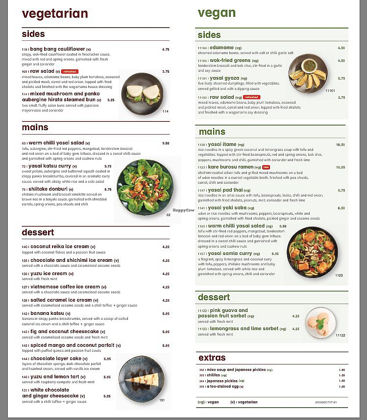 """Photo of Wagamama - Cardinal Place  by <a href=""""/members/profile/lysi"""">lysi</a> <br/>Veggie menu <br/> January 4, 2018  - <a href='/contact/abuse/image/107591/342838'>Report</a>"""