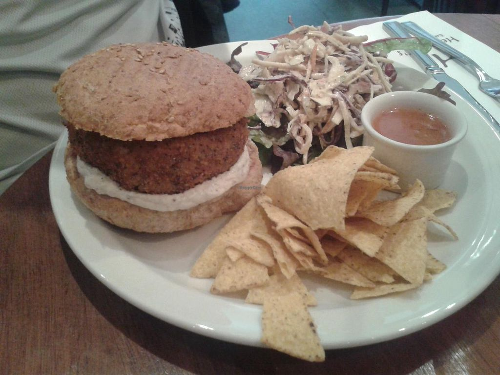 "Photo of Henderson's Restaurant  by <a href=""/members/profile/jennyc32"">jennyc32</a> <br/>Thai nut burger (vegan) <br/> April 19, 2015  - <a href='/contact/abuse/image/1075/99633'>Report</a>"