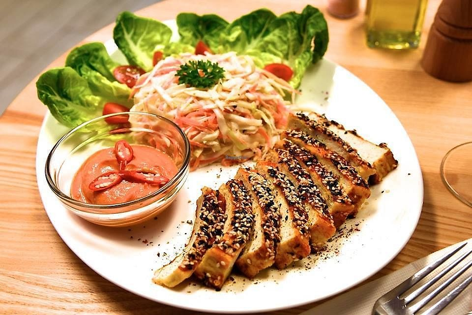 """Photo of BioBar Vitarian  by <a href=""""/members/profile/Nikolate"""">Nikolate</a> <br/>pricy tofu  and coleslaw <br/> December 21, 2017  - <a href='/contact/abuse/image/107606/337813'>Report</a>"""