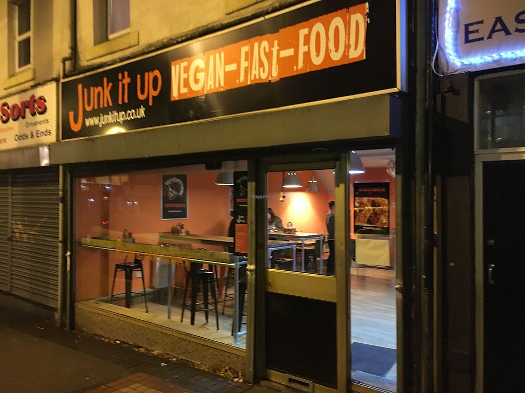 """Photo of Junk it Up - Vegan Fast Food  by <a href=""""/members/profile/hack_man"""">hack_man</a> <br/>Exterior  <br/> December 20, 2017  - <a href='/contact/abuse/image/107610/337560'>Report</a>"""