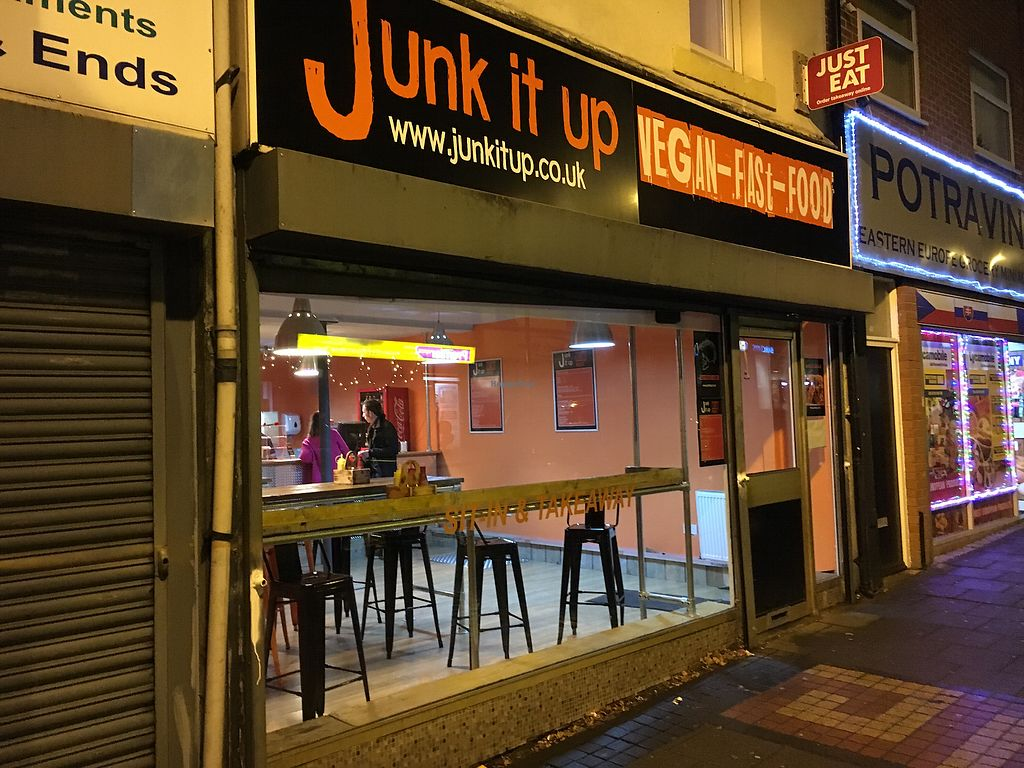 """Photo of Junk it Up - Vegan Fast Food  by <a href=""""/members/profile/hack_man"""">hack_man</a> <br/>Exterior  <br/> December 20, 2017  - <a href='/contact/abuse/image/107610/337564'>Report</a>"""