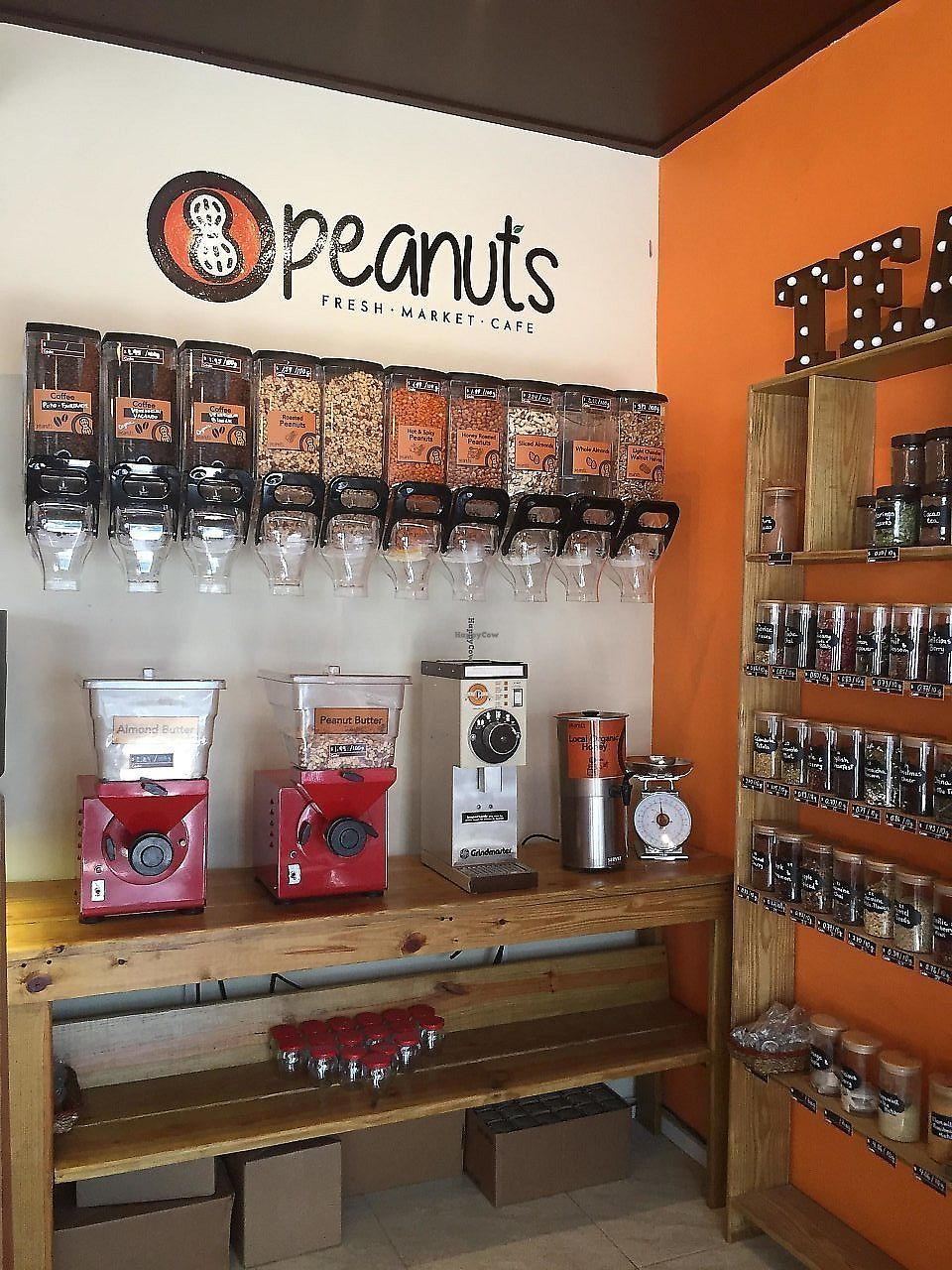 """Photo of Peanuts Fresh Market Cafe  by <a href=""""/members/profile/Eefie"""">Eefie</a> <br/>All kinds of nuts, peanut & almond  butter <br/> December 27, 2017  - <a href='/contact/abuse/image/107619/339799'>Report</a>"""