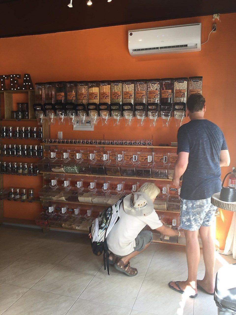 """Photo of Peanuts Fresh Market Cafe  by <a href=""""/members/profile/Eefie"""">Eefie</a> <br/>All kinds of seeds, flours, grains, tea <br/> December 27, 2017  - <a href='/contact/abuse/image/107619/339800'>Report</a>"""