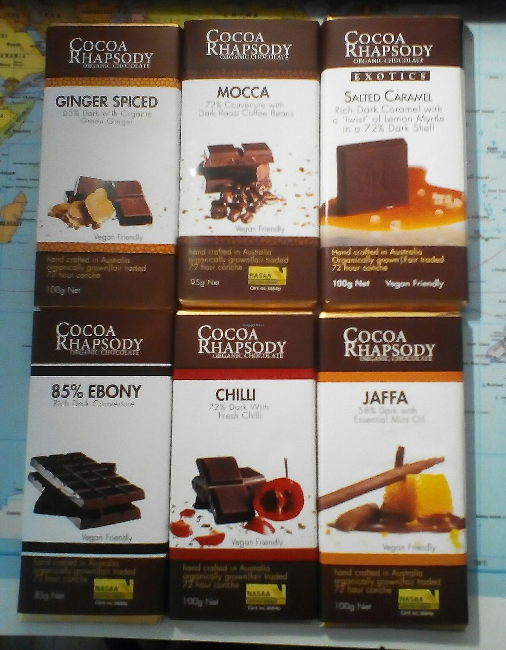 """Photo of Cocoa Rhapsody  by <a href=""""/members/profile/wuasabai"""">wuasabai</a> <br/>Some of the vegan chocolate varieties <br/> December 21, 2017  - <a href='/contact/abuse/image/107631/337693'>Report</a>"""