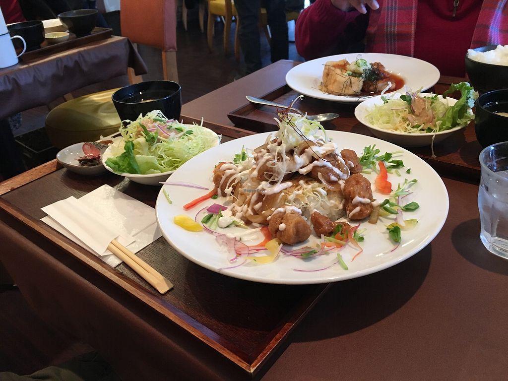 "Photo of Itadaki Kinkakuji  by <a href=""/members/profile/UrVeggieMate"">UrVeggieMate</a> <br/>Whole lunch set (ignore the agedashi tofu in the background!) <br/> March 23, 2018  - <a href='/contact/abuse/image/107641/374833'>Report</a>"