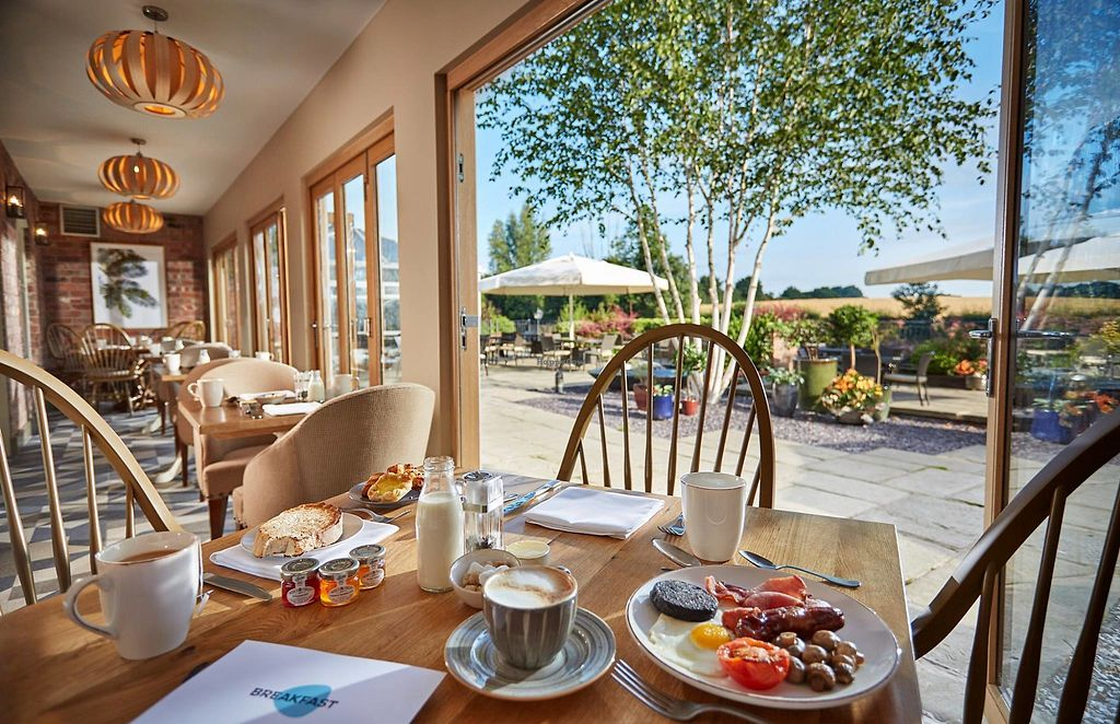 """Photo of Lion Quays Luxury Hotel & Spa  by <a href=""""/members/profile/LQuays"""">LQuays</a> <br/>Breakfast overlooking the terrace  <br/> March 13, 2018  - <a href='/contact/abuse/image/107645/370226'>Report</a>"""