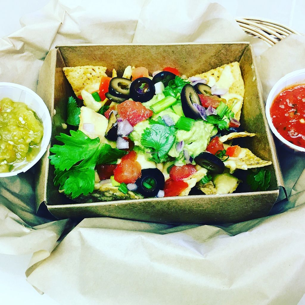 """Photo of The Healthy Hippie Cafe  by <a href=""""/members/profile/TheHealthyHippie17"""">TheHealthyHippie17</a> <br/>Vegan Nachos <br/> December 21, 2017  - <a href='/contact/abuse/image/107680/337696'>Report</a>"""