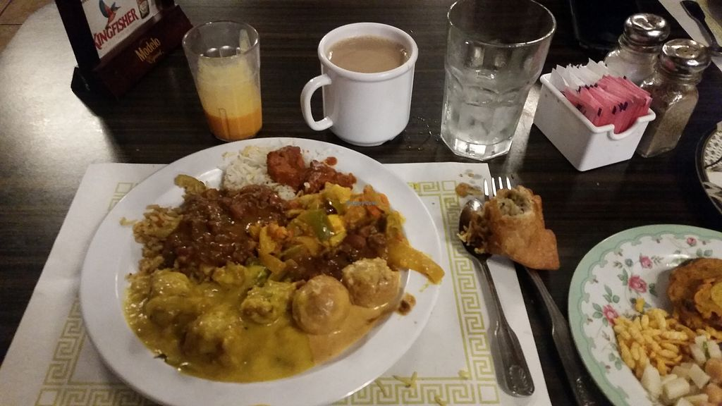 """Photo of India Oven  by <a href=""""/members/profile/WhatDoYouEatThen"""">WhatDoYouEatThen</a> <br/>We visited this Indian Restaurant in Mesa, AZ on Dec 1, 2017 for the first time, It's a nice place, with a dinner buffet. There are clearly marked portions of the buffet for Vegan options. The food all tasted great, they had many Vegan options, but also some meat. They bring fresh made breads to the table as you eat. There was chai tea & mango juice as well as some sweets. Friendly staff. They were open late 10pm  More Pics  http://whatdoyoueatthen.com/india-oven-mesa-az/ <br/> December 22, 2017  - <a href='/contact/abuse/image/107690/337918'>Report</a>"""