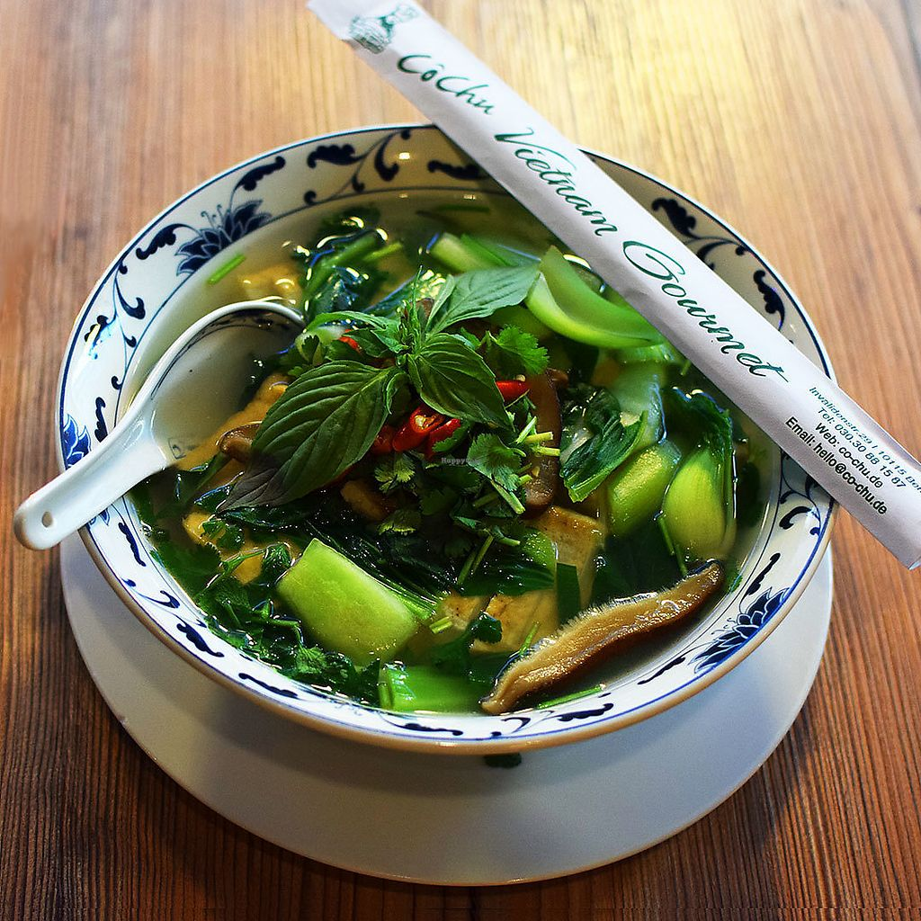 """Photo of Co Chu  by <a href=""""/members/profile/VeganTravelStory"""">VeganTravelStory</a> <br/>Sup Mien Tofu: Noodle soup with tofu <br/> December 22, 2017  - <a href='/contact/abuse/image/107701/337993'>Report</a>"""