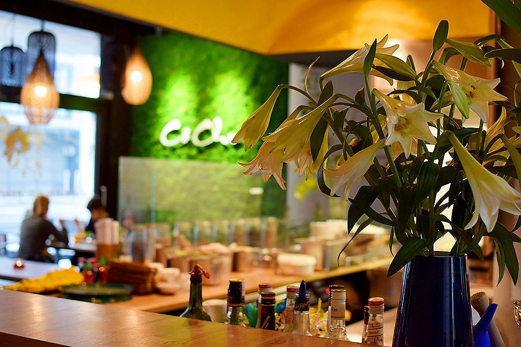 """Photo of Co Chu  by <a href=""""/members/profile/VeganTravelStory"""">VeganTravelStory</a> <br/>Part of the bar and the restaurant <br/> December 22, 2017  - <a href='/contact/abuse/image/107701/337996'>Report</a>"""