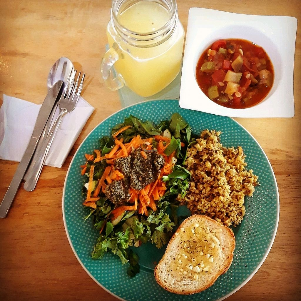 """Photo of Mandala Cafe  by <a href=""""/members/profile/Yona"""">Yona</a> <br/>French ratatouille with cauliflower rice and arugula salad  <br/> January 19, 2018  - <a href='/contact/abuse/image/107712/348174'>Report</a>"""