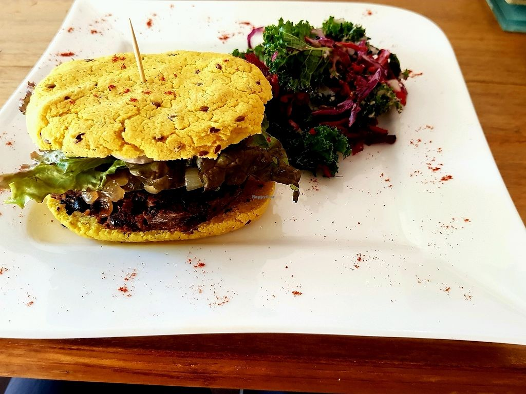 """Photo of Mandala Cafe  by <a href=""""/members/profile/Rongie"""">Rongie</a> <br/>gluten free (request) vegan burger <br/> March 23, 2018  - <a href='/contact/abuse/image/107712/374897'>Report</a>"""