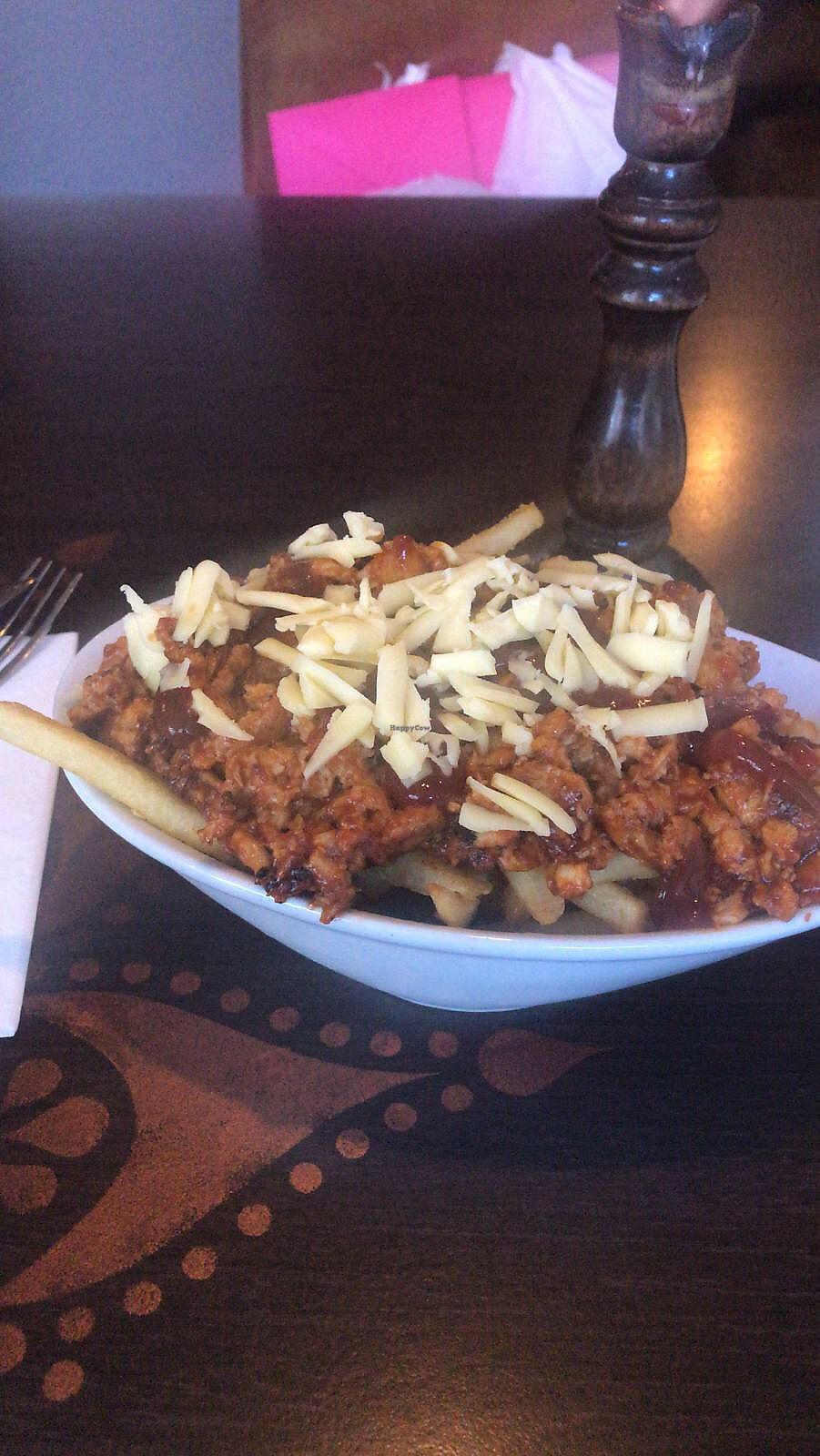 "Photo of Phoenix Plant Based Eatery  by <a href=""/members/profile/VickieGerrard"">VickieGerrard</a> <br/>Bbq (faux chicken) loaded fries  <br/> January 18, 2018  - <a href='/contact/abuse/image/107714/348031'>Report</a>"