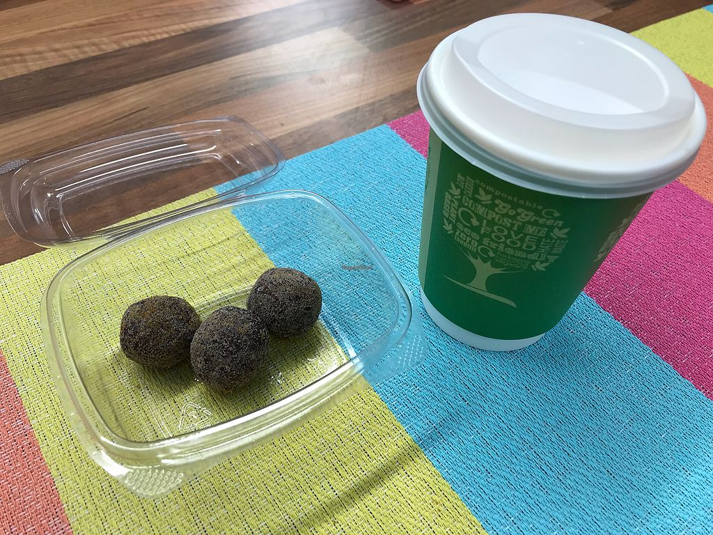 """Photo of Gourmet Munchies  by <a href=""""/members/profile/VickiWanSlattery"""">VickiWanSlattery</a> <br/>Dark chocolate orange truffles and coffee with hazelnut milk and organic maple syrup   <br/> January 19, 2018  - <a href='/contact/abuse/image/107719/348425'>Report</a>"""