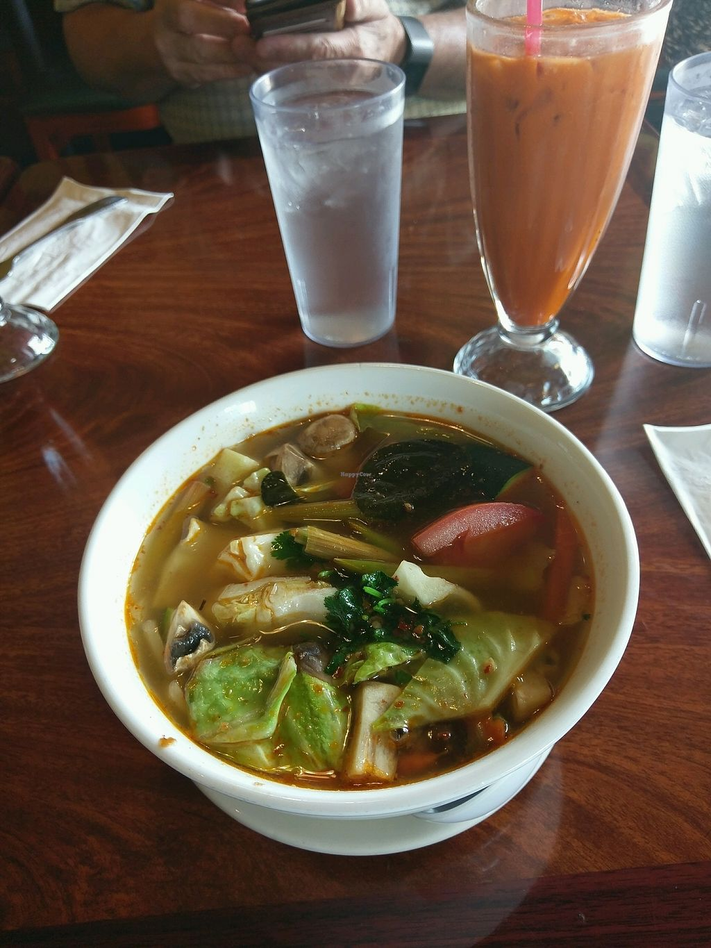 "Photo of Bangkok Garden  by <a href=""/members/profile/jade.vegan"">jade.vegan</a> <br/>Tom yung soup (from the vegan menu!!) <br/> March 30, 2018  - <a href='/contact/abuse/image/107792/378120'>Report</a>"