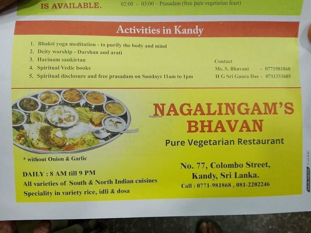 """Photo of Nagalingam's Bhavan  by <a href=""""/members/profile/MichaelGreen"""">MichaelGreen</a> <br/>Pure Vegetarian but most of the things are vegan anyway, just ask the owners. Its a lovely family business <br/> January 21, 2018  - <a href='/contact/abuse/image/107811/349284'>Report</a>"""