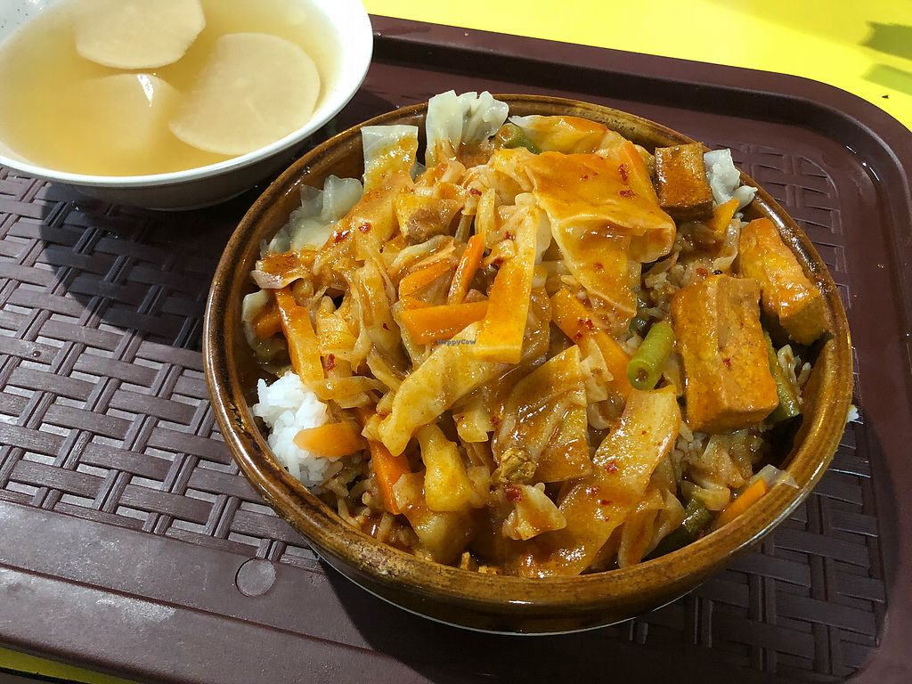 """Photo of Healthy Vegetarian Food Stall - temporarily closed  by <a href=""""/members/profile/CherylQuincy"""">CherylQuincy</a> <br/>Curry rice <br/> February 9, 2018  - <a href='/contact/abuse/image/107815/356848'>Report</a>"""
