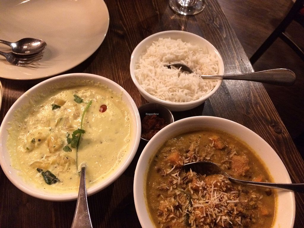 """Photo of Kathakali Indian Cuisine  by <a href=""""/members/profile/Arti"""">Arti</a> <br/>vegan curries <br/> March 3, 2018  - <a href='/contact/abuse/image/107834/366222'>Report</a>"""