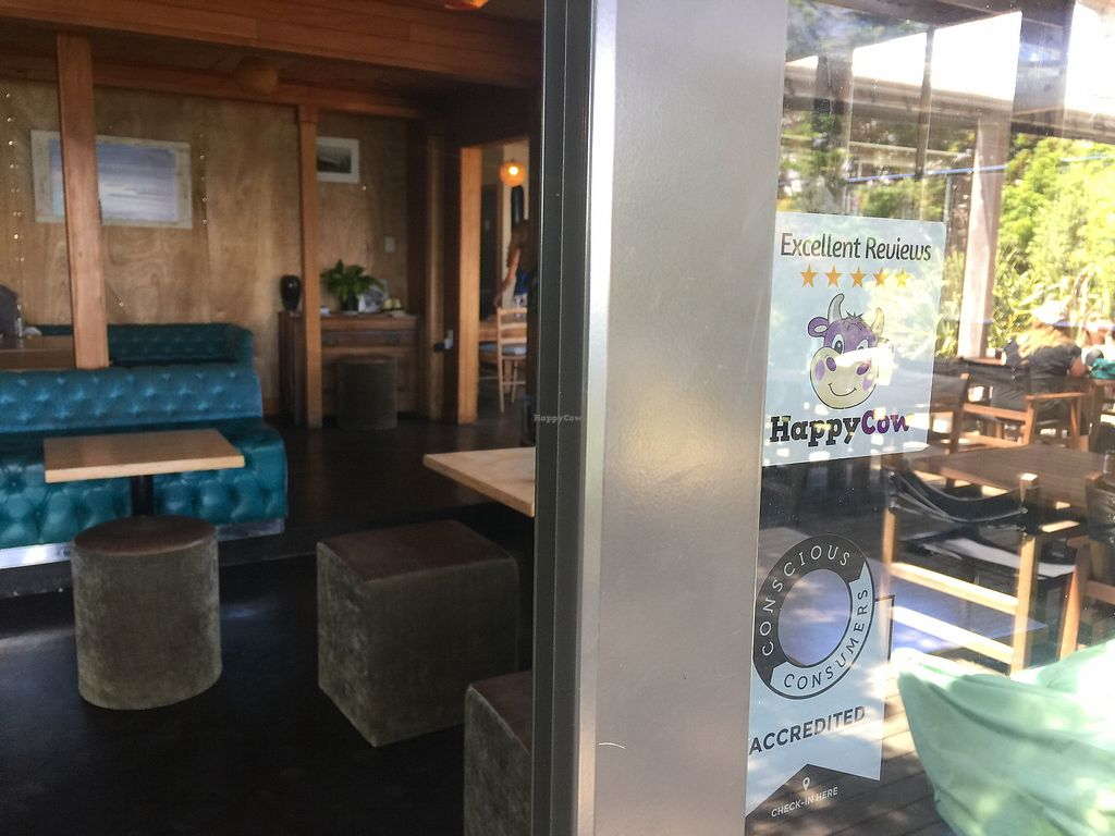 "Photo of The Conscious Kitchen at Solscape  by <a href=""/members/profile/Tiggy"">Tiggy</a> <br/>Cafe entrance (with Happy Cow sticker on window) <br/> January 1, 2018  - <a href='/contact/abuse/image/107861/341545'>Report</a>"