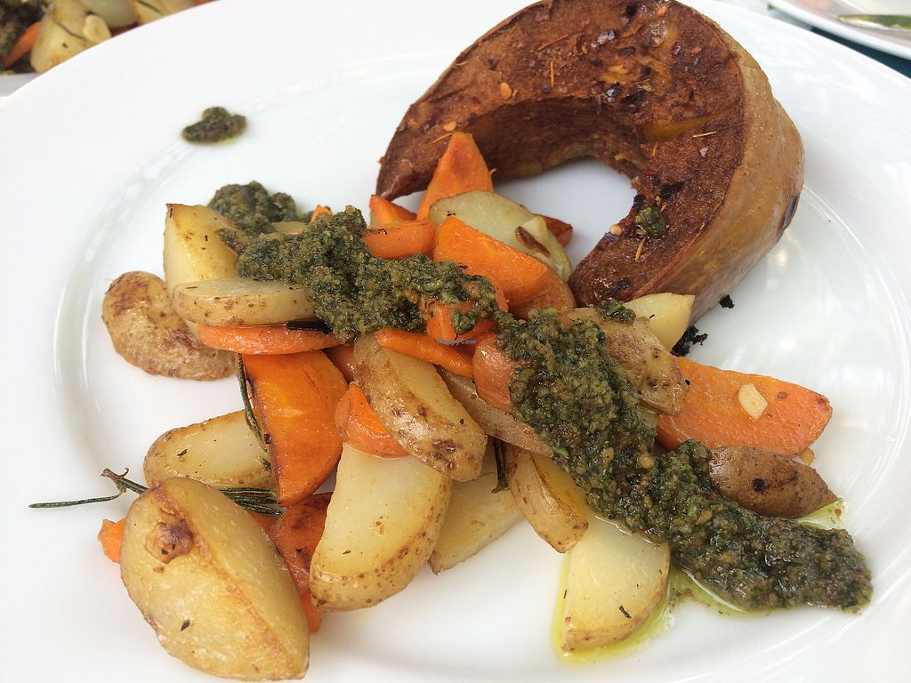 "Photo of Ahimsa Vegan Cafe  by <a href=""/members/profile/fessther"">fessther</a> <br/>Cinnamon pumpkin, rosemary potatoes and fresh basil pesto <br/> December 28, 2017  - <a href='/contact/abuse/image/107867/339892'>Report</a>"