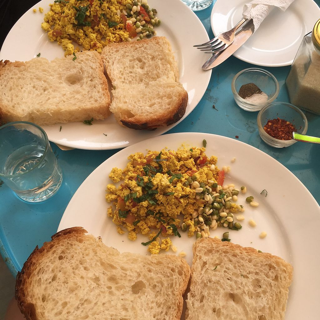 "Photo of Ahimsa Vegan Cafe  by <a href=""/members/profile/SarahJennyJohnson"">SarahJennyJohnson</a> <br/>Tofu! <br/> January 22, 2018  - <a href='/contact/abuse/image/107867/349680'>Report</a>"