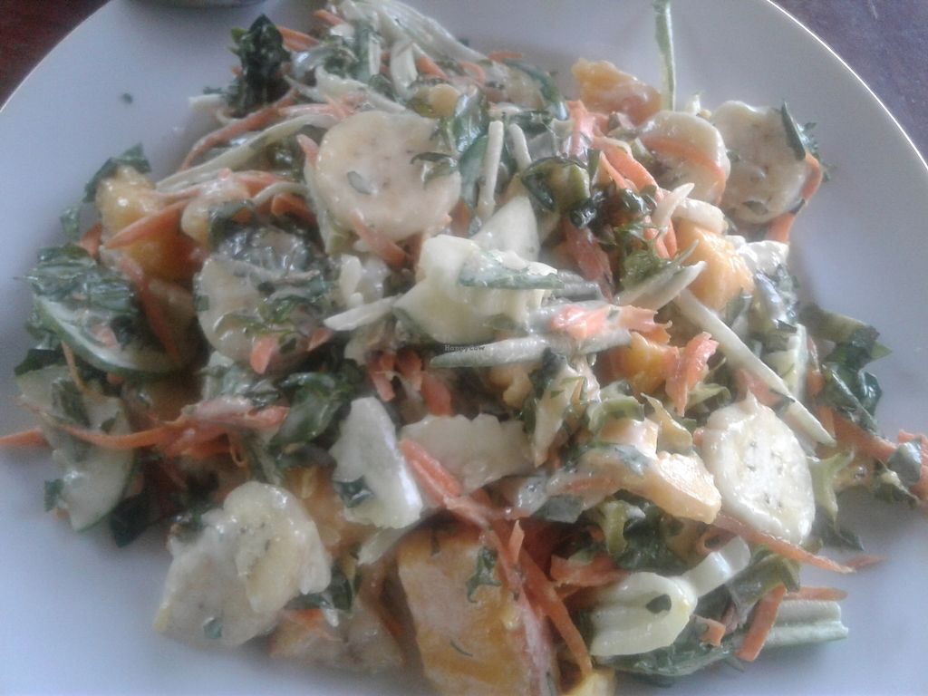 "Photo of Organic Vegetarian Food by Mrs. Pong  by <a href=""/members/profile/AnnaWacker"">AnnaWacker</a> <br/>My favorite! A green salad with raw homemade coconut dressing. Ask for it raw. I added some organic mango as well <br/> February 16, 2018  - <a href='/contact/abuse/image/107915/360037'>Report</a>"