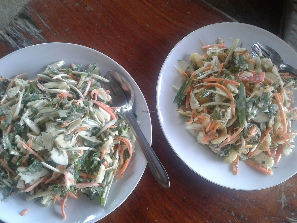"Photo of Organic Vegetarian Food by Mrs. Pong  by <a href=""/members/profile/AnnaWacker"">AnnaWacker</a> <br/>Green salad and mixed salad. Both raw and delicious with raw coconut dressing on top - ask for it raw if desired.  <br/> February 17, 2018  - <a href='/contact/abuse/image/107915/360288'>Report</a>"