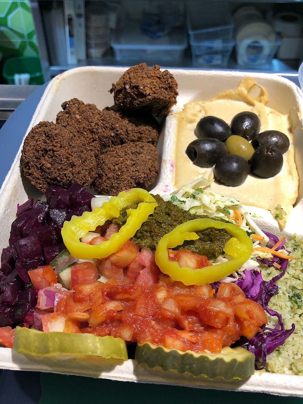 """Photo of Maoz Vegetarian  by <a href=""""/members/profile/daroff"""">daroff</a> <br/>Falafel platter!  <br/> May 18, 2018  - <a href='/contact/abuse/image/107927/401564'>Report</a>"""