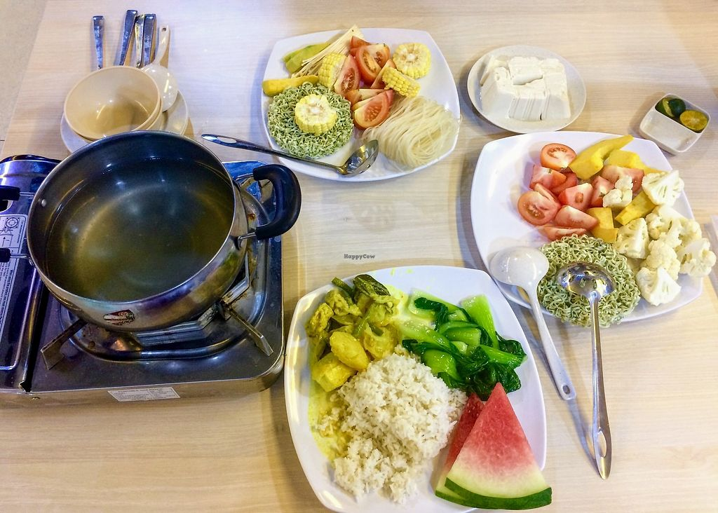 """Photo of Taste of Asia Food Court  by <a href=""""/members/profile/LaurenceMontreuil"""">LaurenceMontreuil</a> <br/>Vegan steamboat for 2 + 1 plate from the buffet <br/> February 2, 2018  - <a href='/contact/abuse/image/10793/353928'>Report</a>"""