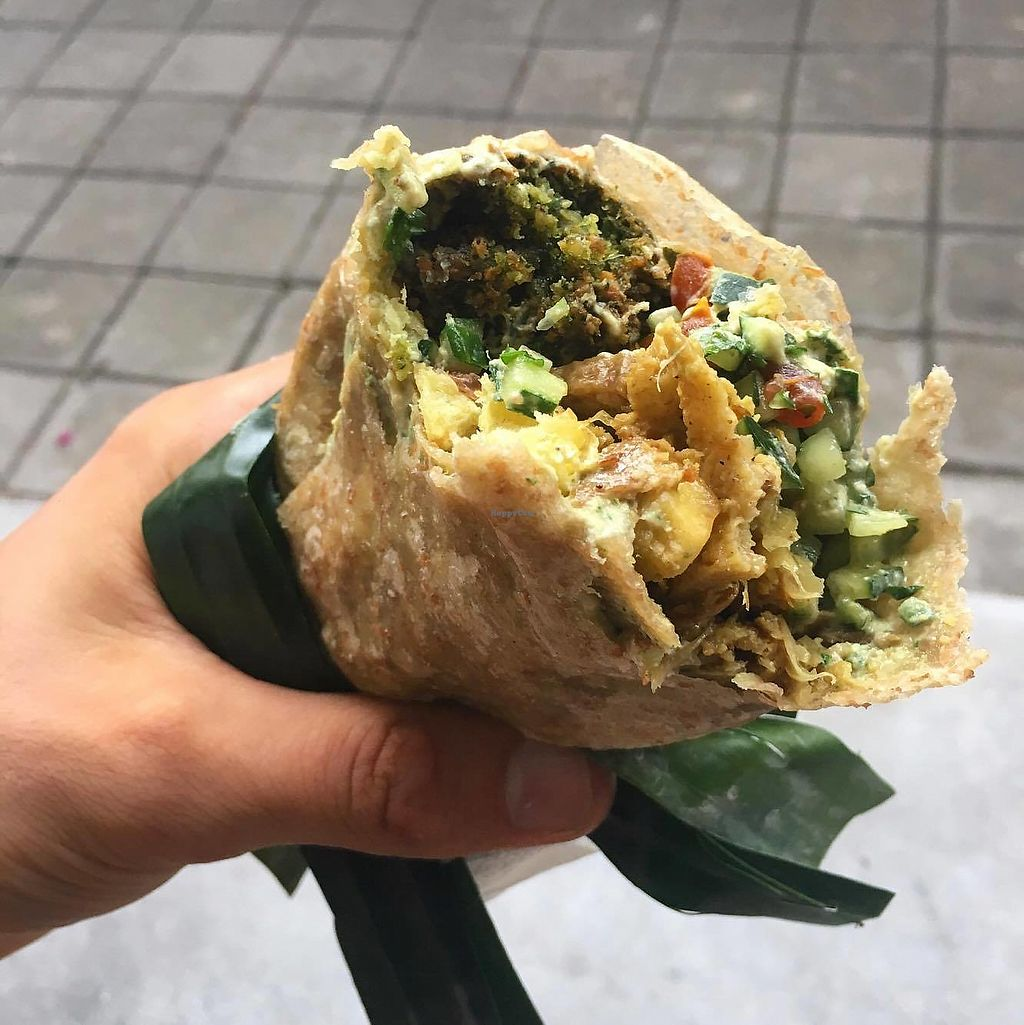 """Photo of Warung Falafel  by <a href=""""/members/profile/skycutler"""">skycutler</a> <br/>Falafel Wrap at Warung Falafel <br/> December 27, 2017  - <a href='/contact/abuse/image/107949/339402'>Report</a>"""