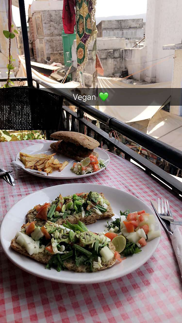 "Photo of The Laughing Buddha Cafe  by <a href=""/members/profile/MelissaYoung"">MelissaYoung</a> <br/>BEST VEGAN PLACE IN PUSHKAR <br/> April 17, 2018  - <a href='/contact/abuse/image/107961/387026'>Report</a>"