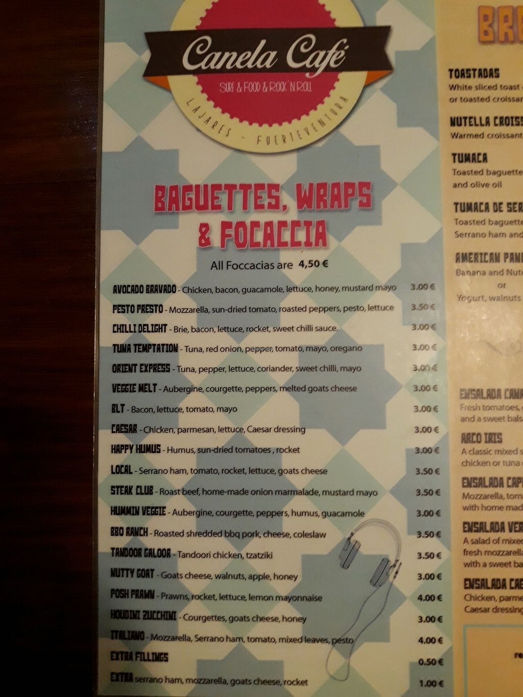 "Photo of Canela Cafe  by <a href=""/members/profile/TamaraVdBerg"">TamaraVdBerg</a> <br/>Menu <br/> January 2, 2018  - <a href='/contact/abuse/image/108013/342255'>Report</a>"