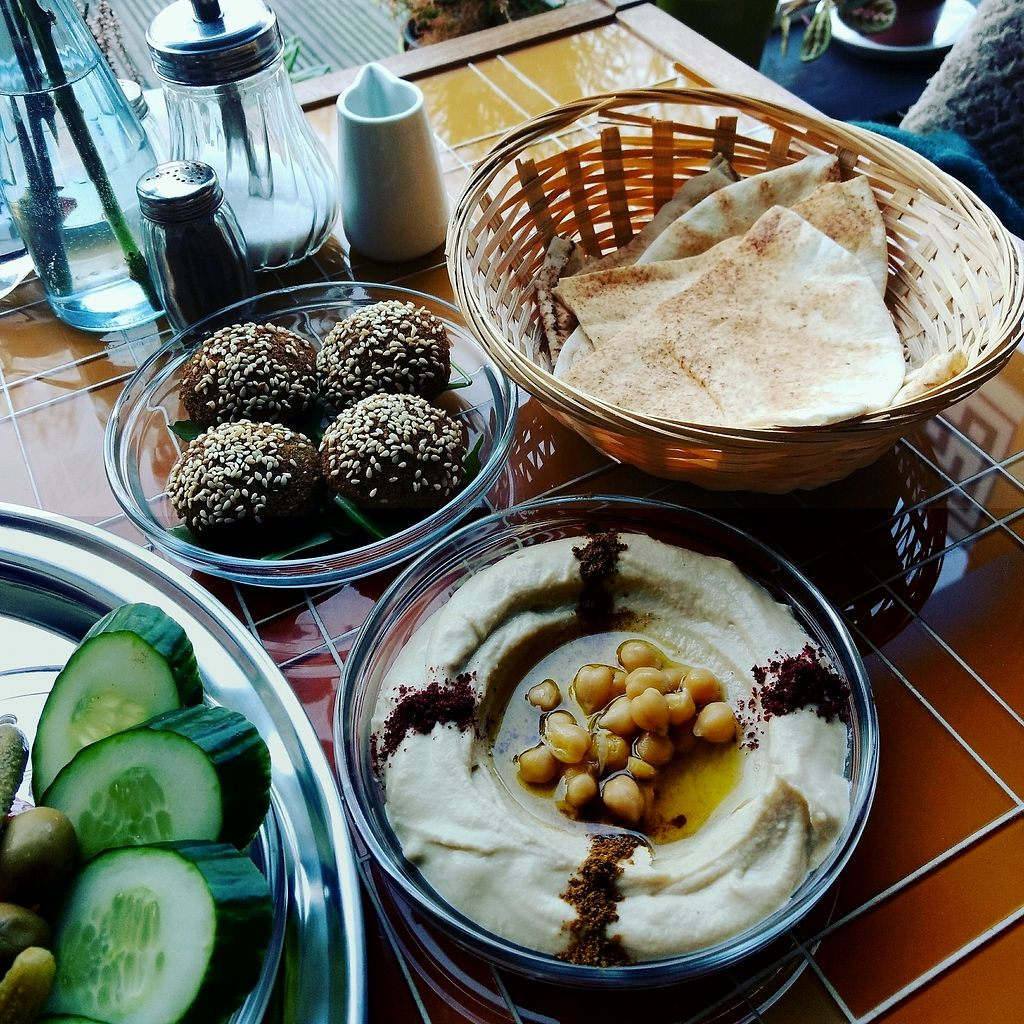 """Photo of Flop Cafe  by <a href=""""/members/profile/erinlovestofu"""">erinlovestofu</a> <br/>Falafel and Hummus dish <br/> December 28, 2017  - <a href='/contact/abuse/image/108043/339882'>Report</a>"""