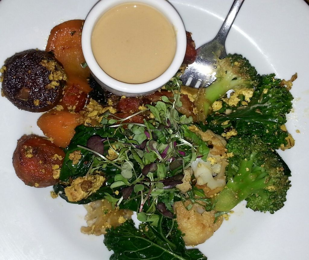 """Photo of Kismet  by <a href=""""/members/profile/slithers"""">slithers</a> <br/>Vegan Scramble with rainbow carrots, broccoli, tofu and tahini dressing <br/> December 15, 2015  - <a href='/contact/abuse/image/10809/231572'>Report</a>"""