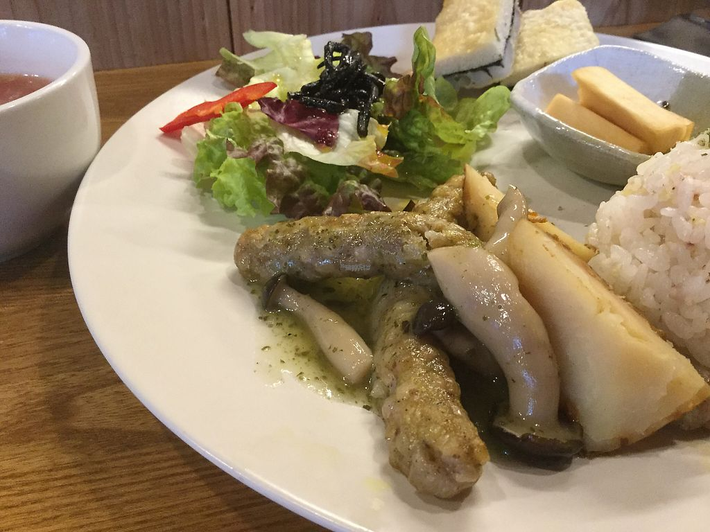 """Photo of Future Food Cafe Restaurant Tubu Tubu  by <a href=""""/members/profile/Sarah007"""">Sarah007</a> <br/>Buckwheat sausages  <br/> January 9, 2017  - <a href='/contact/abuse/image/10810/209967'>Report</a>"""