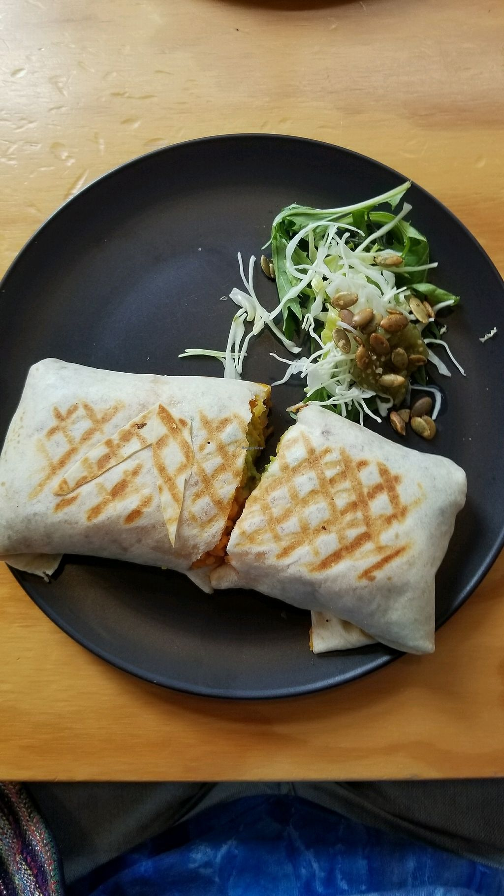 """Photo of Nicola's Cantina  by <a href=""""/members/profile/AndyTheVWDude"""">AndyTheVWDude</a> <br/>Vegan burrito ('Vege' w/out the cheese) <br/> April 13, 2018  - <a href='/contact/abuse/image/108145/385296'>Report</a>"""