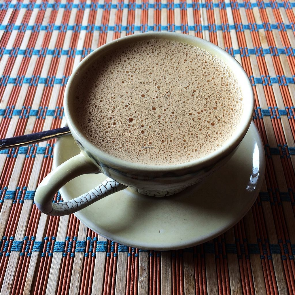 """Photo of Le Gecko  by <a href=""""/members/profile/Bethevegan"""">Bethevegan</a> <br/>Coconut coffee without any diary (condensed milk) <br/> January 4, 2018  - <a href='/contact/abuse/image/108151/342778'>Report</a>"""