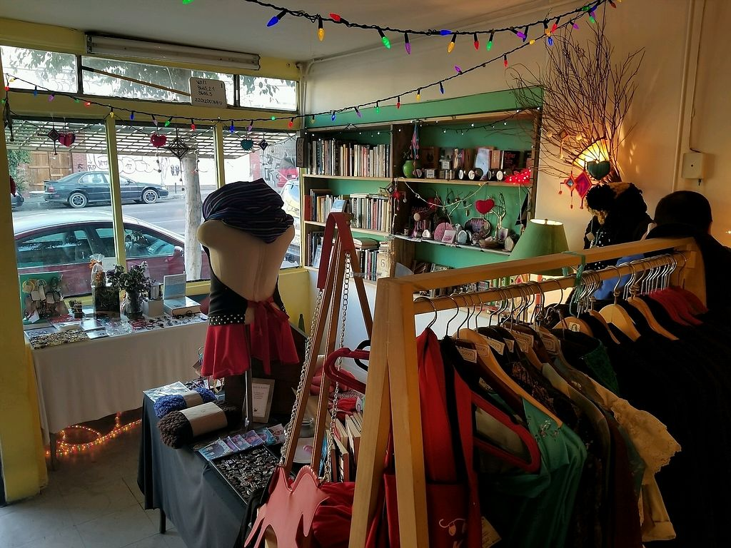 "Photo of Lapislazuli Vintage and Vegan Store  by <a href=""/members/profile/VegGuyLA"">VegGuyLA</a> <br/>inside <br/> January 25, 2018  - <a href='/contact/abuse/image/108152/350660'>Report</a>"