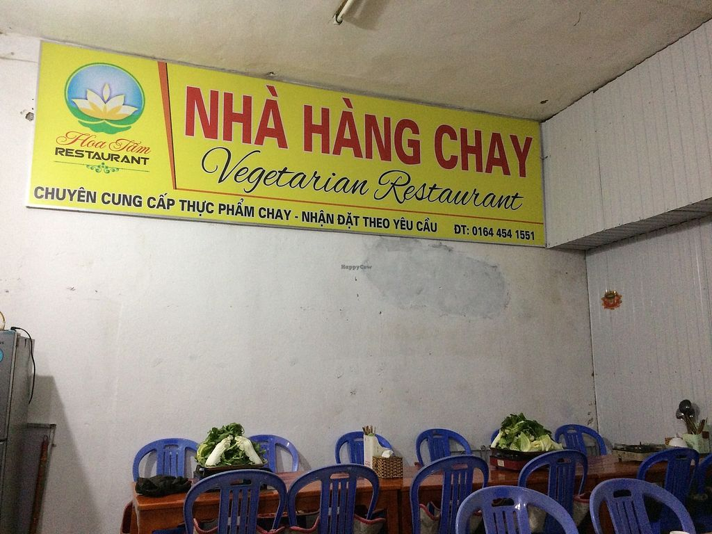 """Photo of Nha Hang Chay  by <a href=""""/members/profile/Bethevegan"""">Bethevegan</a> <br/>Restaurant sign <br/> January 4, 2018  - <a href='/contact/abuse/image/108153/342795'>Report</a>"""