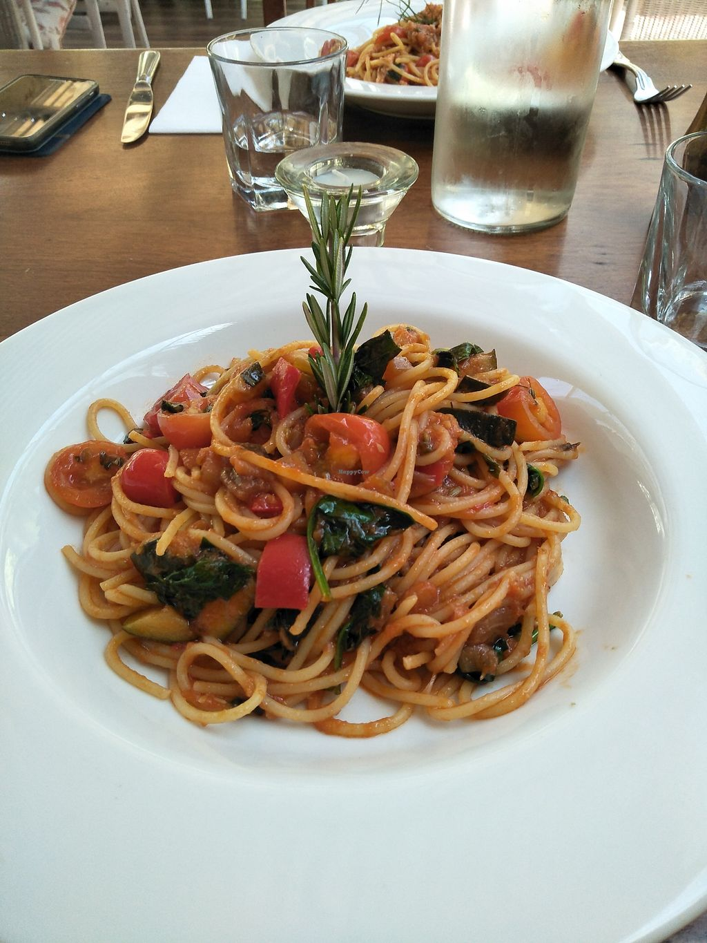"""Photo of La Casina   by <a href=""""/members/profile/Cynthia1998"""">Cynthia1998</a> <br/>Vegan freshly made spaghetti with tomato sauce and seasonal vegetables  <br/> December 29, 2017  - <a href='/contact/abuse/image/108157/340400'>Report</a>"""
