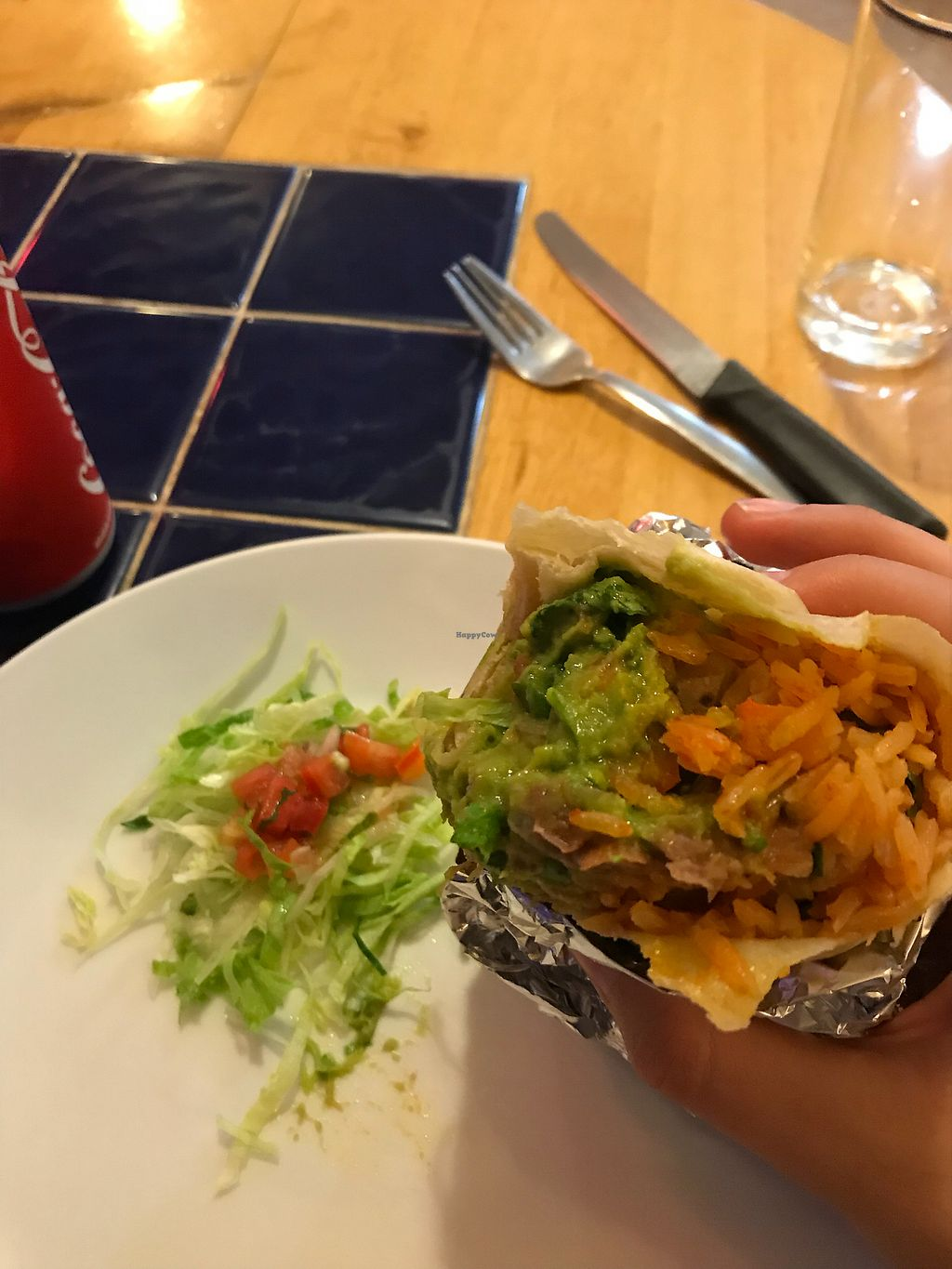 """Photo of Sunrise Tacos  by <a href=""""/members/profile/TravelVeggie"""">TravelVeggie</a> <br/>Vegan burrito  <br/> December 30, 2017  - <a href='/contact/abuse/image/108173/340778'>Report</a>"""