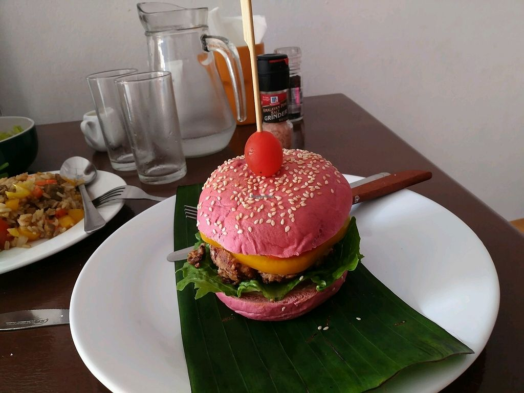 "Photo of Funky Vege Cafe  by <a href=""/members/profile/AlexandrCheremikin"">AlexandrCheremikin</a> <br/>Funnky burger <br/> January 31, 2018  - <a href='/contact/abuse/image/108179/353085'>Report</a>"
